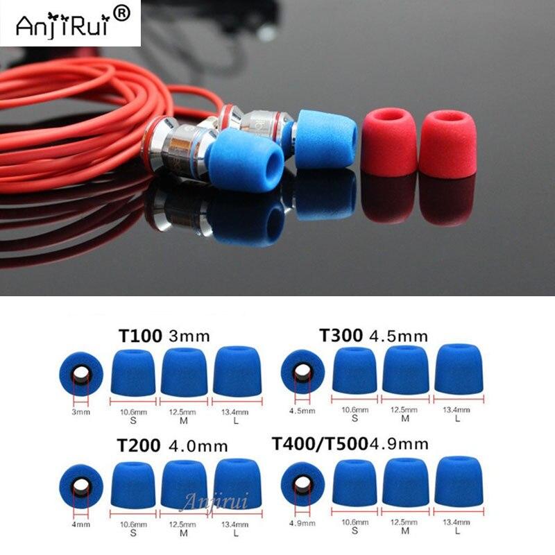 40 pcs/20 pair. ANJIRUI T200 4.0mm LMS Caliber insulation foam tips for in-ear earphone headset earphones enhanced bass Ear Pads