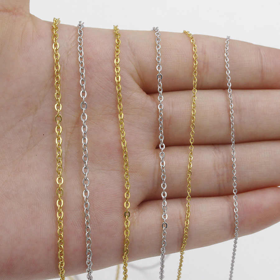1 gold and silver stainless steel necklace 45 cm