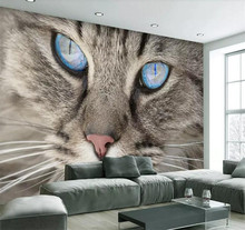 Custom 3D Photo Wallpaper For Walls Roll Cat Eye Large Murals Modern Simple Living Room Bedroom Wall Papers Home Decor Painting цена 2017