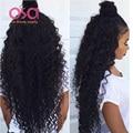 Перуанский Девы Волос Дешевые Курчавые Волосы Девственные Расслоения Перуанский Глубокой волна Переплетения Мокрый И Волнистые Человеческие Волосы OSA Современный Шоу Волос