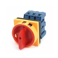 Load Circuit Breaker Rotary Switch AC 690V 40A 6 Terminals 2 Positions On Off Rotary Cam
