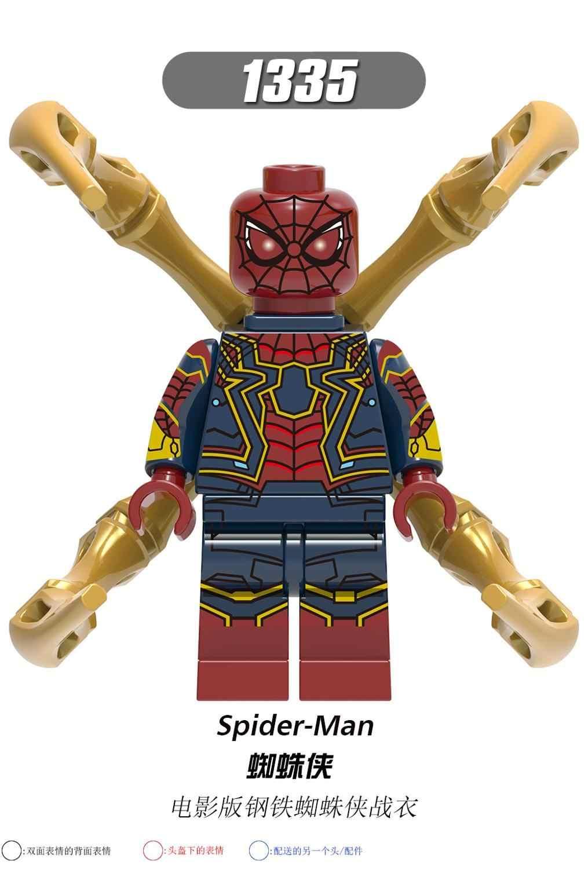 עכביש איש רחוק מהבית דמות סופר גיבור מיסטריו עכביש איש הידרו בניין בלוקים לבני צעצועי ילד XH0266