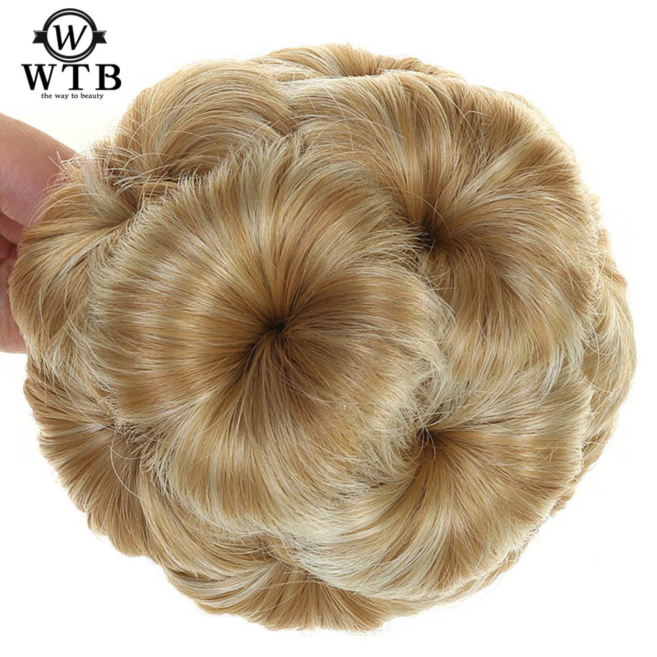 WTB Women Chignon Hair Bun Donut Clip In Hairpiece Extensions Black/Brown/ Synthetic High Temperature Fiber Chignon