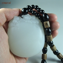 CYNSFJA  Real Rare Certified Chinese Hetian White Jade Carving Master Works Wealthy Pig Hand Pieces Mens Amulets Carved Artworks High Quality Best Gifts