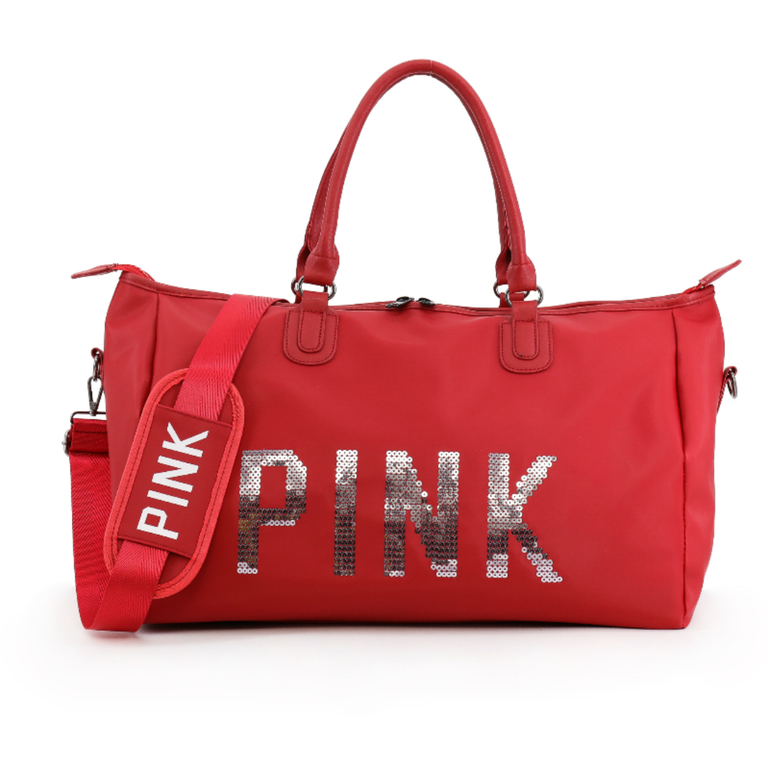 2018 New Large Capacity Tote sports Bag Red Duffle Bag Victoria gym Bag Secret Weekend Vs Pink Print Handbags for Women ...