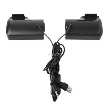 1 Pair Mini Portable Clip-on USB Stereo Speakers line Controller Soundbar for Laptop Notebook Mp3 PC Computer with Clip Jy19 19 4