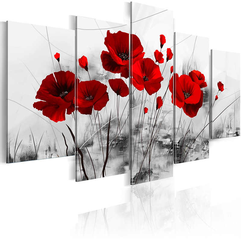 5 pieces/set Classic safflower poster Picture Print Painting On Canvas Wall Art Home Decor Living Room Canvas Art PJMT-B (154)