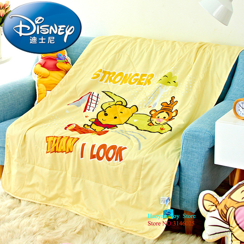 все цены на Disney Spring Summer 120X150CM Cartoon Soft Cotton Blanket Throw For Girls Children On Bed Sofa Couch Kids Gift Newborn Baby