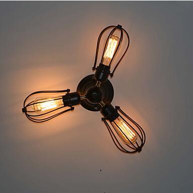 Retro Style Loft Vintage ceiling Light Fixtures Living Room Lights Edison LED Industrial Ceiling Lamp Luminaire Plafonlamp