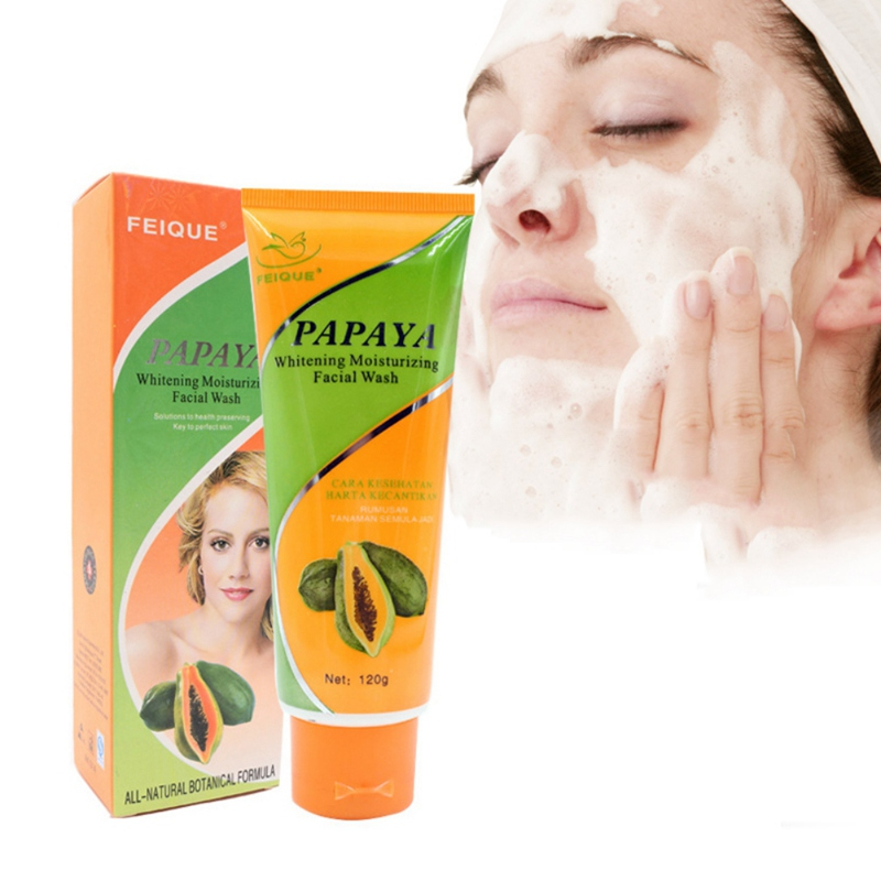 face wash Whitening Moisturizing Facial Wash Gentle Cleansing Papaya Facial Wash Cleanser Skin Beauty Care Wash