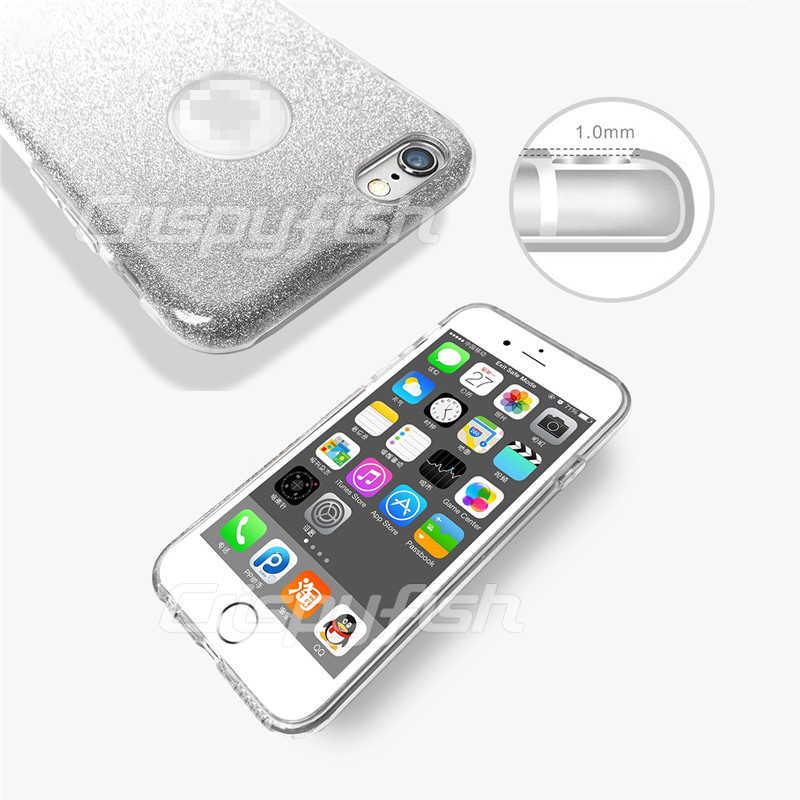 Блестящий ТПУ силиконовый чехол-накладка для iPhone 6 6 s, однотонный глянцевый чехол s для IPhone 7 8 Plus X XS Max XR