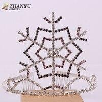 ZHANYU JEWELRY 2017 Hot Sale Grils Hair Accessories Exquisite Tiaras Crown Gorgeous Charm Women Headbands Jewelry ZXL6178