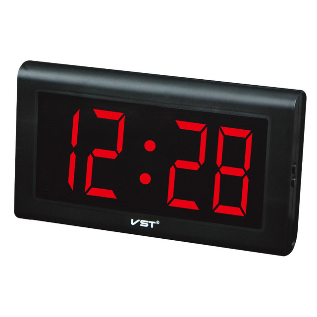 Top Quality Silent Large Led Digital Wall Clock Modern Design Plastic Table Clock With EU Plug Luminous Clock Wall Watches Quiet