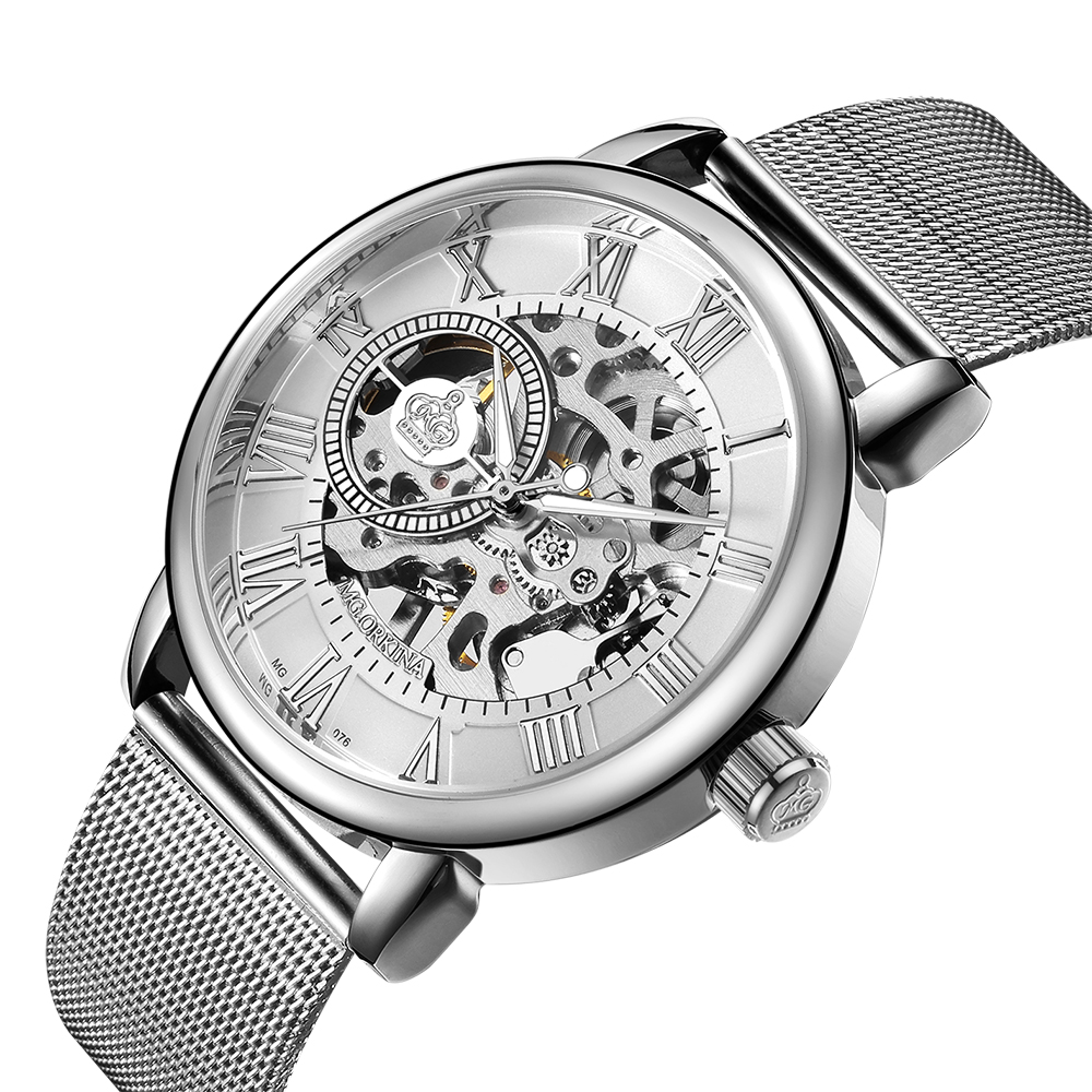 Orkina Male Wristwatch Skeleton Dial Mechanical Hand Wind