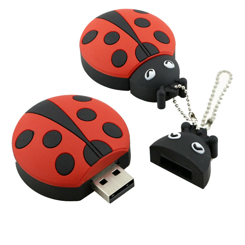 USB Flash Drive 8G Cute ladybug USB գրիչ Drive 32 GB Pendrive 16 GB USB Memoria stick beetle Flash Memory Stick Drive