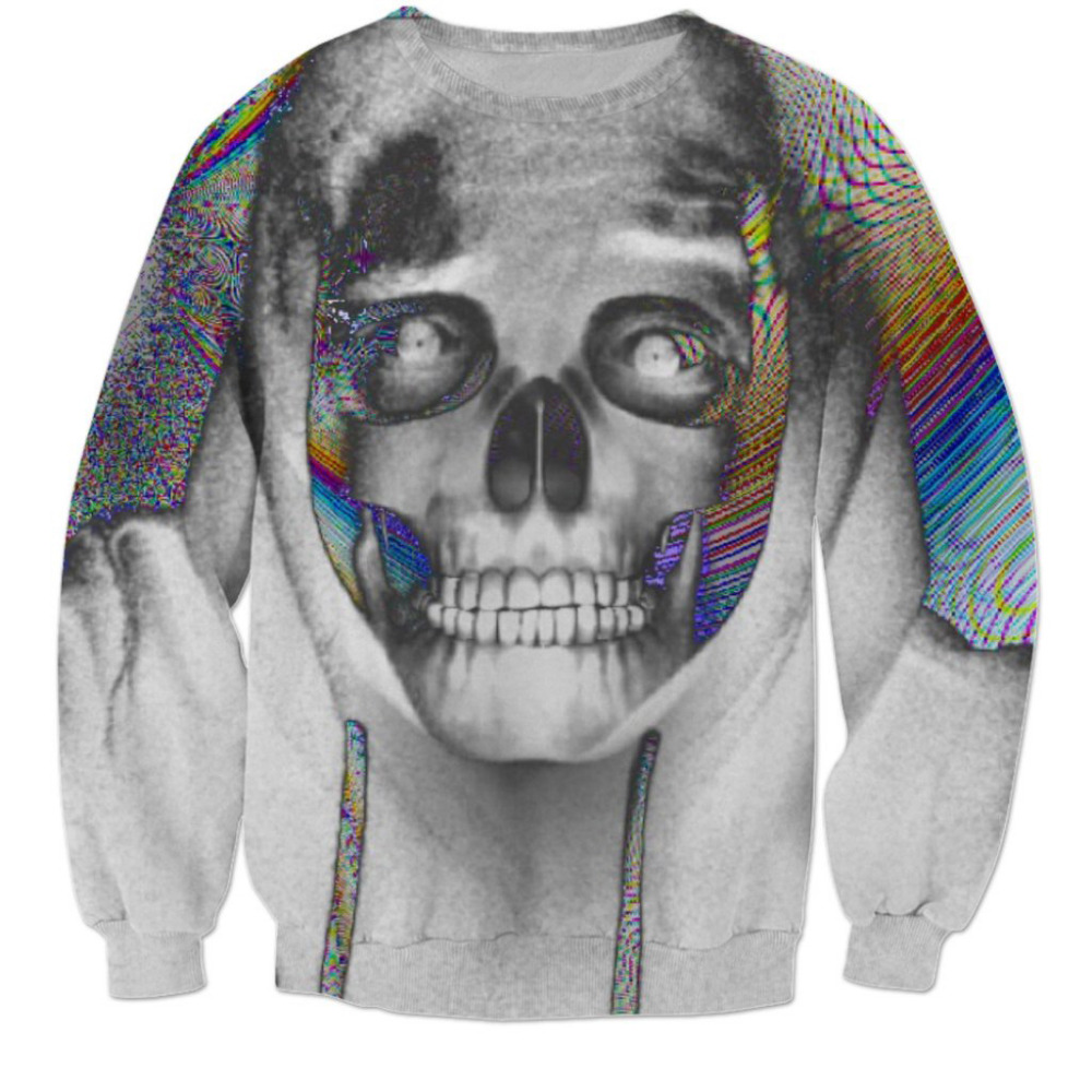 LiZhiYang Store 2017 NEW Hot Fashion men women top cool 3D print Halloween Horror Skull head sweatshirt enchantress pullover hoodies wholesale