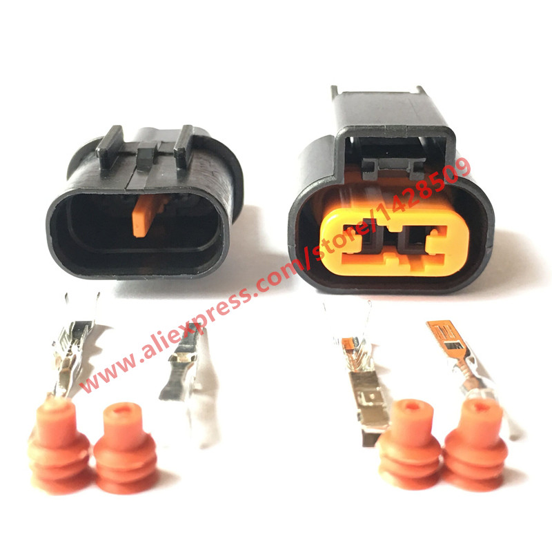 5 Set <font><b>Kum</b></font> Auto 2 Pin PB625-02027 Female And Male ABS Sensor Fog Lamp Automotive Wiring Harness <font><b>Connector</b></font> For Mitsubishi Souast image