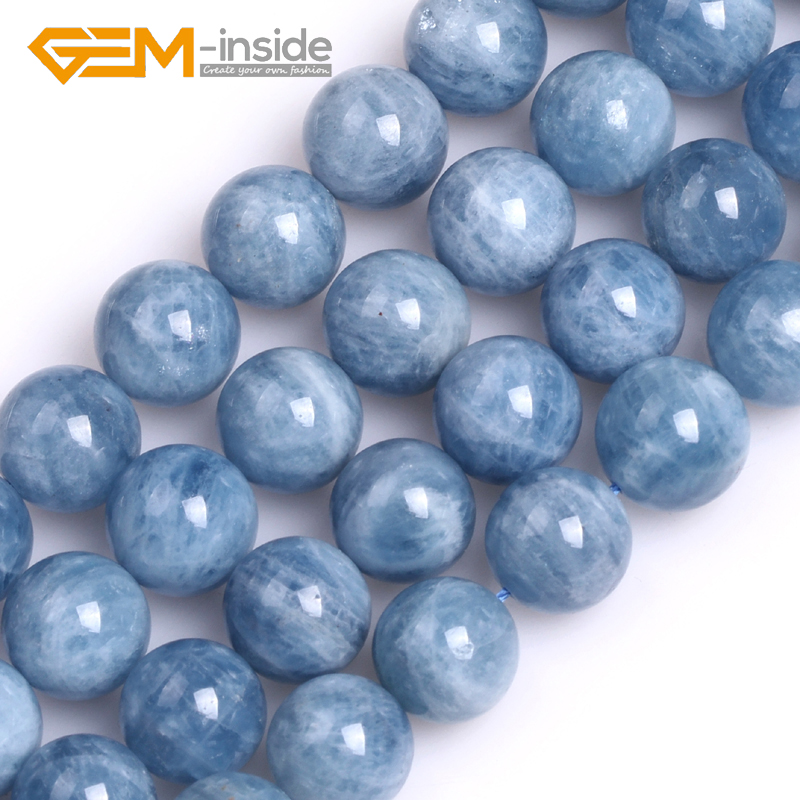 GEM-inside 6/8/10/12mm Round A Grade AA Grade Aquamarines Quartzs Beads for Jewelry Making Beads DIY Gift Strand 15 Inches New!!