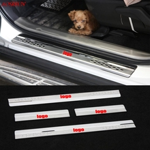 fit for Toyota RAV4 2013-2018 Stainless Steel Door Sill Strip Welcome Pedal Trim Auto car accessories car-styling automobiles