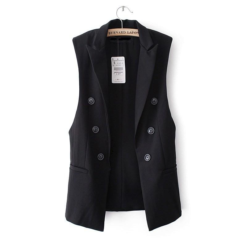 blazer vest outwear ow0114 black