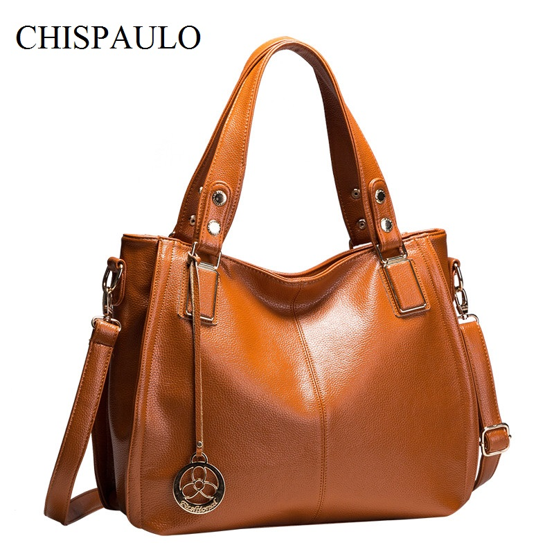 CHISPAULO Women's Shoulder Bags Luxury Brand Women Designer Handbags High Quality Fashion Women's Shoulder Bag Lady Tassel X21 chispaulo luxury brand women genuine leather handbags designer female crossbody bag fashion women s shoulder bags lady bags x21