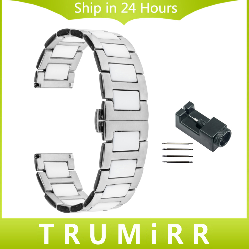 18mm 20mm 22mm Ceramic + Stainless Steel Watch Band for Tissot T035 T055 T097 Butterfly Buckle Strap Bracelet + New Link Remover 20mm 22mm stainless steel watchband quick release strap for tissot 1853 t035 t097 watch band butterfly clasp belt wrist bracelet