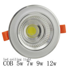 Dimmable or no Dimmable LED Downlight Ceiling lamp light COB 3W 5W7W 9W 12W Warm cold white 110V 220V indoor furniture lighting