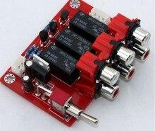 3 canal de entrada tablero de conmutación de Audio JUNTA Interruptor Selector de señal de Entrada de Audio RCA para RH2.54 placas Placa de Relé