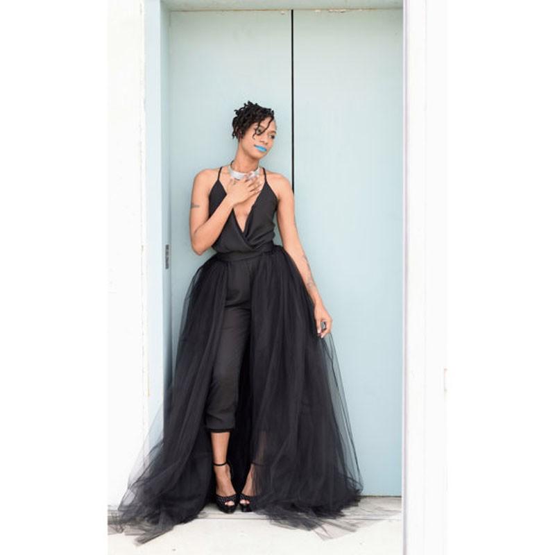 Black Tulle Wedding Skirt Tulle Overskirt, Detachable Tulle Skirt, Overskirt, Detachable Train, Tulle Train, Detachable Wedding Skirt