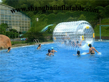 High Quality Factory customized 0.8mm PVC inflatable water roller ball inflatable ball for sale