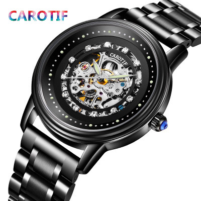 CAROTIF Automatic Mechanical Men Watches Montre Full Steel Male Watch Reloj Hombre Waterproof Skeleton Watch Men erkek kol saati carotif automatic mechanical men watches montre full steel male watch reloj hombre waterproof skeleton watch men erkek kol saati page 8