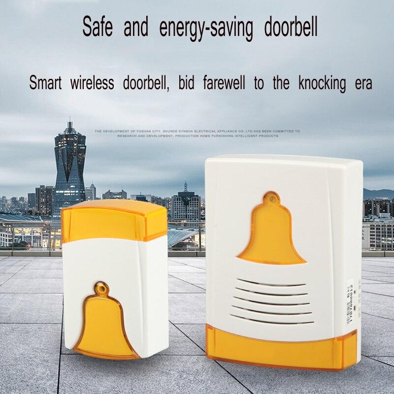 Casa campainha digital sem fio controle remoto AC e DC sensor de segurança sem fio campainha controle de acesso Do Hotel