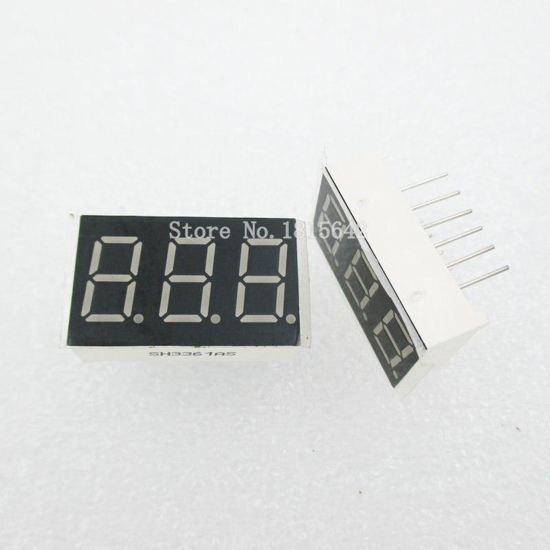 "5pcs 3 Bit 0.36/"" Digital Tube LED Display Common Cathode Red Y"