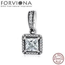 cf4d071fa 100% 925 Sterling Silver Timeless Elegance Pendant Charm Fit Original  Pandora Bracelet Bangle DIY Jewelry