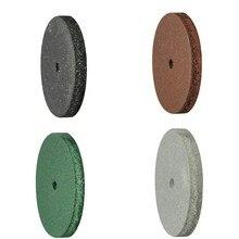 100 pièces/boîte roue de polissage en caoutchouc dentaire noir/brun/vert/gris matériaux de laboratoire dentaire 22*3mm