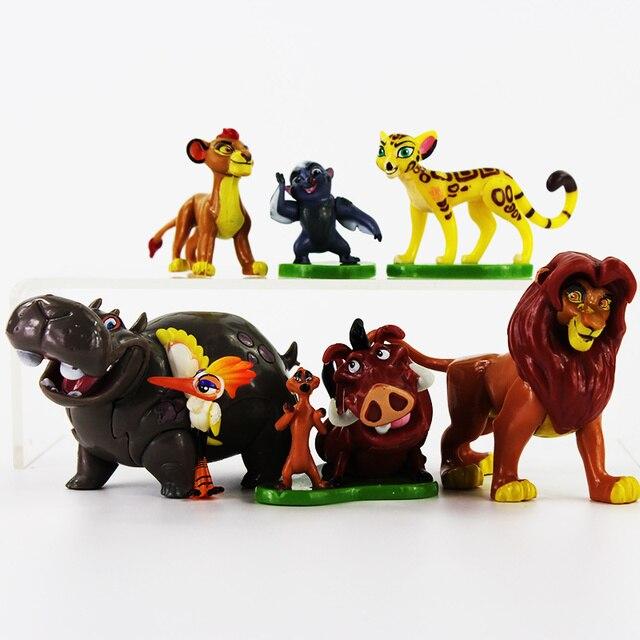 6 unids/lote El Rey León Simba Nala Timon modelo figurita PVC figuras de acción juguetes clásicos Mejores Regalos para niños