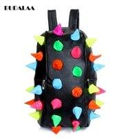 Budalaa Fashion Women Shoulder Bags Large Inside High Quality Rainbow Hedgehog Color Messeger Bags Mini Kawaii