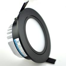 Диммируемый светодиодный светильник 3 Вт 5 Вт 7 Вт 10 Вт 12 Вт cob led spot 220 В/110 В потолочный встраиваемый светильник s круглый светодиодный панельный светильник