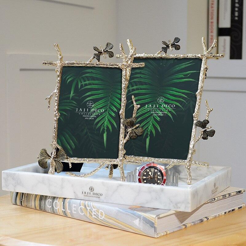 Cadre papillon doré Art créatif modèle européen maison décoration décoration maison accessoires cadeau
