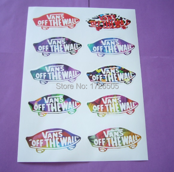 Vans Off The Wall Sticker Part   47: 4PC A4 Size Vans Off The Wall Part 88