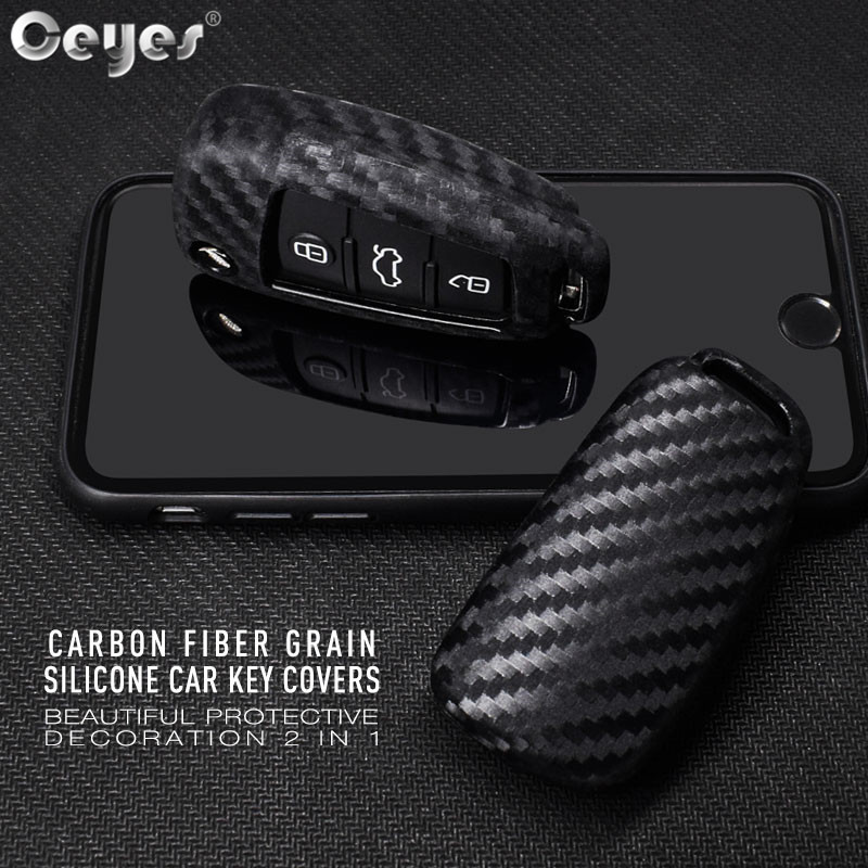 Ceyes coque de Protection en Fiber de carbone à pli automatique pour Audi A3 A4 TT A4L A6L Q7 Q5 A5 A7 accessoires Auto