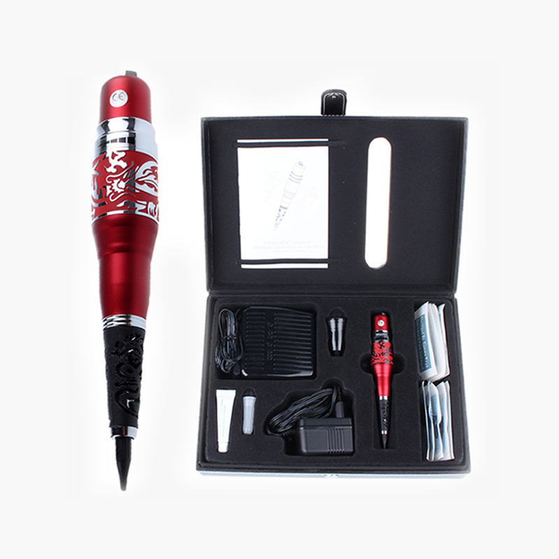 Red Dragon Permanent Makeup Machine Kits With Pedal Switch Tattoo Beauty Equipment For Eyebrow Lips Cosmetics Wholesale Price wholesale price foot control pedal for welding machine