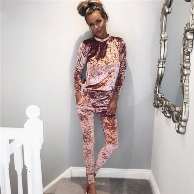 Buy 2016 autumn winter fashion 2 piece set tracksuit for women pants and sweatsuit tracksuit Mla winter style fashion set