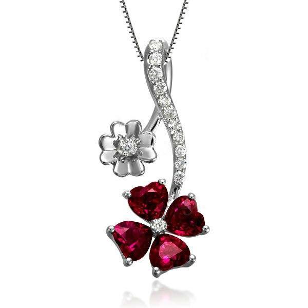 GVBORI 1.2ct драгоценный красный рубин кулон+ цепочка из стерлингового серебра 925 пробы ожерелье изысканные украшения для женщин Свадебные, вечерние на День святого Валентина