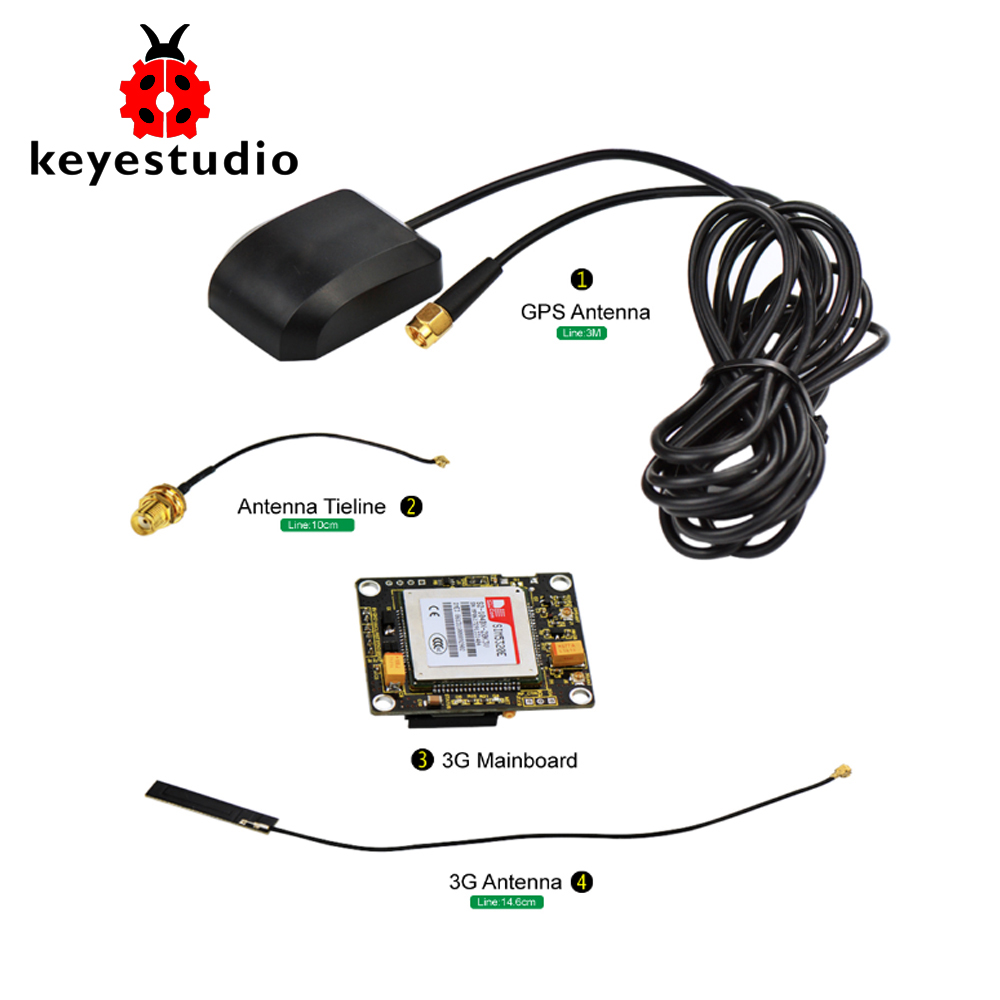 keyestudio SIM5320E 3G Module GSM GPRS GPS Modules for Arduino 51 AVR MCU 1pcs hc sr501 pir sensor human body detecting module pyroelectric hc sr501 for arduino mcu for arduino