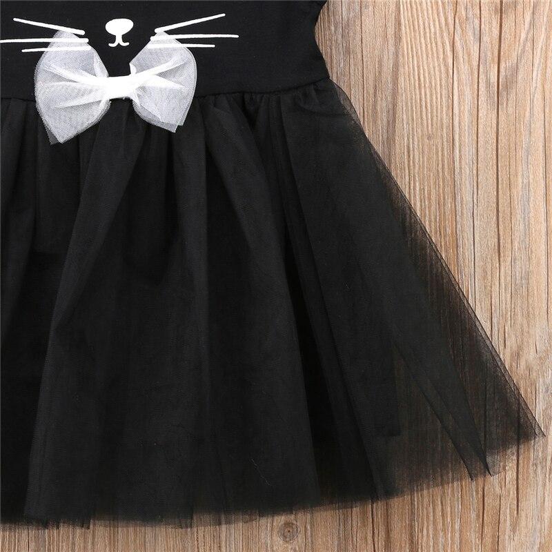 Emmababy новорожденных детская одежда для девочек милое платье с котом из мультфильма Туту Тюль платья без рукавов наряды одежда