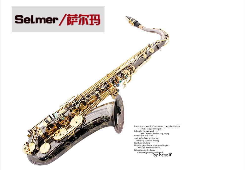 Selmer 802 B flat tenor saxophone instruments brass black nickel gold keys music saxophone Free shipping the black keys the black keys el camino 2 lp