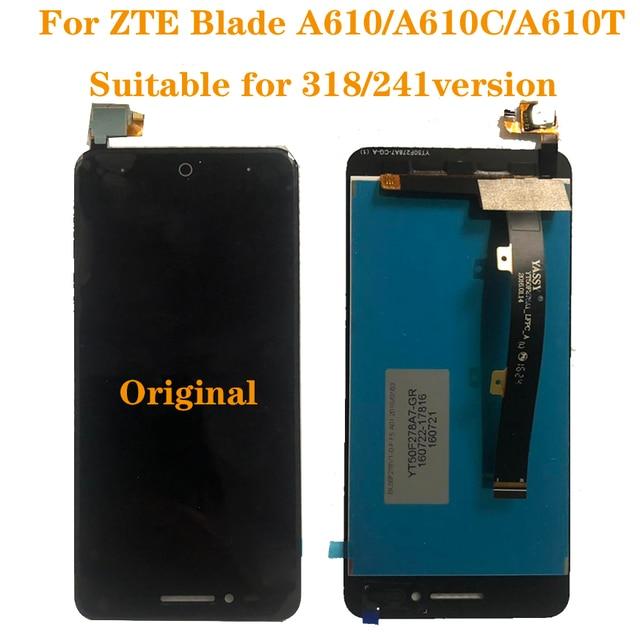 "Originele Display Voor Zte Blade A610 Lcd Monitor Touch Screen Digitizer Component Vervanging A610C Lcd 5 ""100% Test Werk screen"