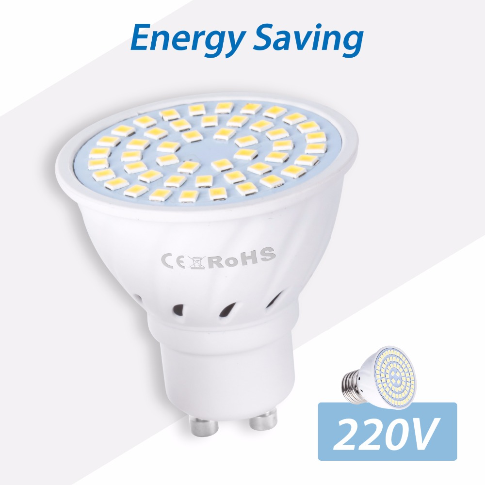 LED MR16 Lamp Spotlight Bulb GU10 48 60 80leds gu5.3 Energy saving Light Bulb B22 220V E27 Bombillas led E14 2835 SMD 5W 7W 9W