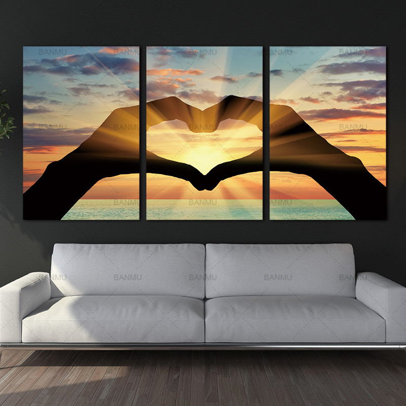 Ocean Hearts Modular pictures painting on the wall paintings canvas oil